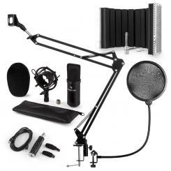 CM001B Mikrofon-Set V5 Kondensator USB-Adapter Mikroarm POP-Schutz Schirm
