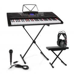 Etude 225 USB Lern-Keyboard Set Kopfhörer,Keyboard-Stand & Sitzbank