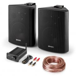 PA HiFi Set Bluetooth Play BK Lautsprecher-Paar Mini-Bluetooth-Verstärker Kabel