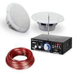 """Terrassen & Badezimmer HiFi Verstärker Speaker Sound Set 6,5"""" 4-tlg wasserdicht"""