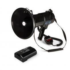 80W Megaphon MEGA080USB schwarz plus Akku