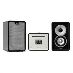 Unison Retrospective 1979S Edition – Stereoanlage Verstärker Boxen + Cover Schwarz | Grau