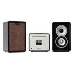 Unison Retrospective 1979S Edition – Stereoanlage Verstärker Boxen + Cover Schwarz | Braun