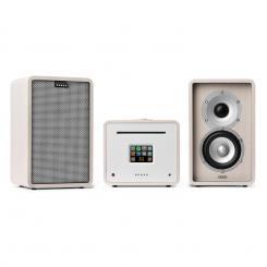 Unison Retrospective 1979S Edition – Stereoanlage Verstärker Boxen + Cover Weiß | Grau