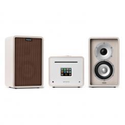 Unison Retrospective 1979S Edition – Stereoanlage Verstärker Boxen + Cover Weiß | Braun