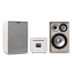 Unison Retrospective 1978 MKII Edition – Stereoanlage Verstärker Boxen + Cover Weiß | Grau