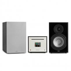 Unison Reference 802 Edition - Stereoanlage Verstärker Boxen + Cover Schwarz | Silber