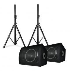 """SL10 Discoboxen-Paar mit Stativen 10"""" Woofer 250Wmax 2x Stativ + Tasche 10"""" (25 cm) - Lautsprecher-Paar mit Stativen"""