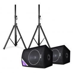 """SL12 Discoboxen-Paar mit Stativen 12"""" Woofer 200W / 300Wmax 12"""" (30 cm) - Lautsprecher-Paar mit Stativen"""