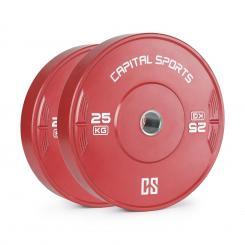 Nipton Bumper Plate Gewichtsplatte | 1 x 25 kg | Hartgummi 25 kg