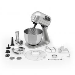 Curve Plus Küchenmaschinen-Set | 5l | 4-in-1 Fleischwolf | silber Silber