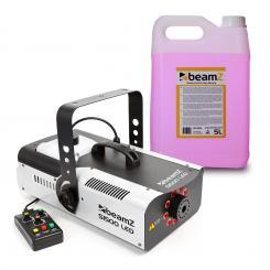 S1500LED Nebelmaschine inkl. 5-Liter-Nebelfluid 1500W 9x3W RGB-LEDs DMX