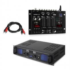SPL500EQ PA-Verstärker Set mit Resident DJ 22 BT 2CH Mischpult