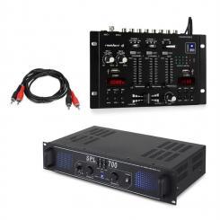 SPL700EQ PA-Verstärker Set mit Resident DJ 22 BT 2CH Mischpult