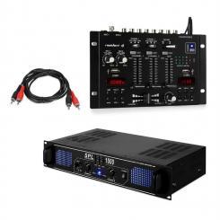 SPL1000EQ PA-Verstärker Set mit Resident DJ 22 BT 2CH Mischpult
