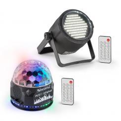 PLS10 Set V1 Jellyball 48 RGB-LEDs PLS15 Strobe LED-Stroboskop