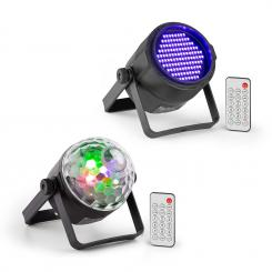 PLS35 Set V5 4 x 3W LEDs PLS20 Blacklight UV Par LED-Strahler