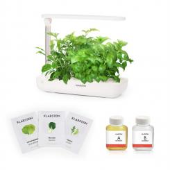 GrowIt Flex Starter Kit Salad 9 Pflanzen 18W LED 2Ltr Salad-Seeds Nährlösung