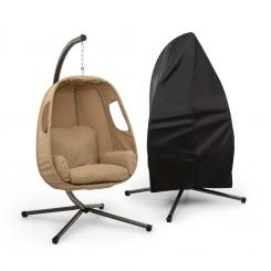 Bella Donna Hängesessel + Regenschutz Set | Set inklusive Regenschutzhülle | beige Beige