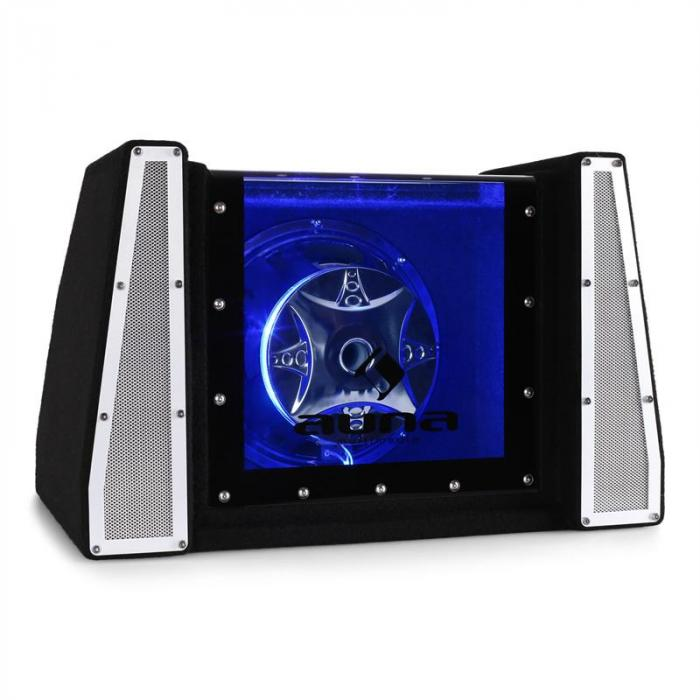 caisson de basses voiture subwoofer 25cm led 800w electronic star fr. Black Bedroom Furniture Sets. Home Design Ideas