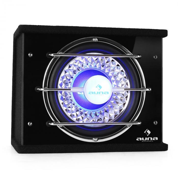 """Auna Subwoofer25cm (10"""") 300W RMS 600W max. efekt świetlny"""