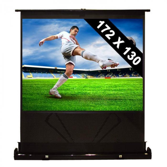 Schermo proiettore 172x130 cm da 218 cm estendibile 4:3