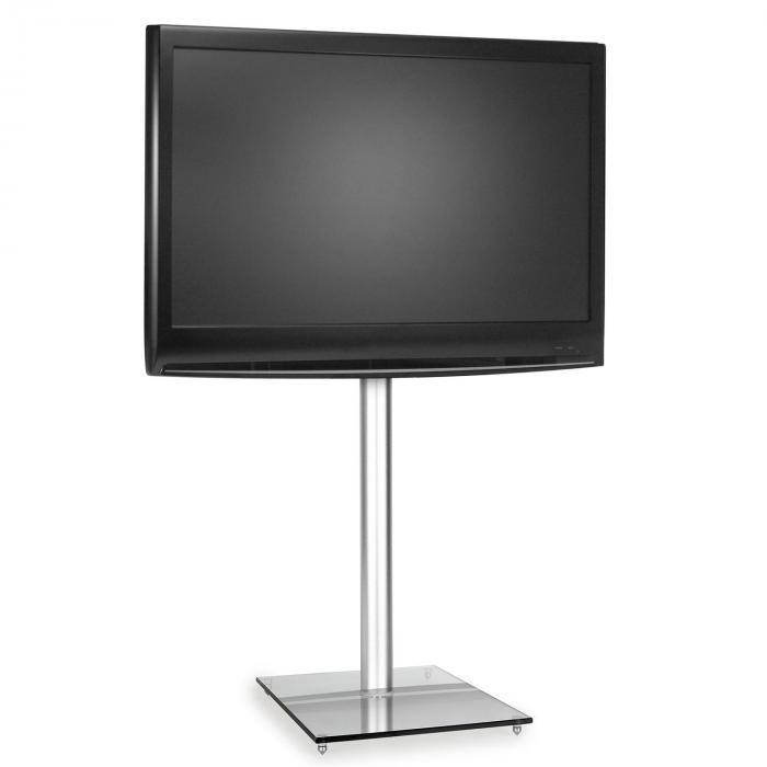 Aluminium tv-houder met glazen standvoet