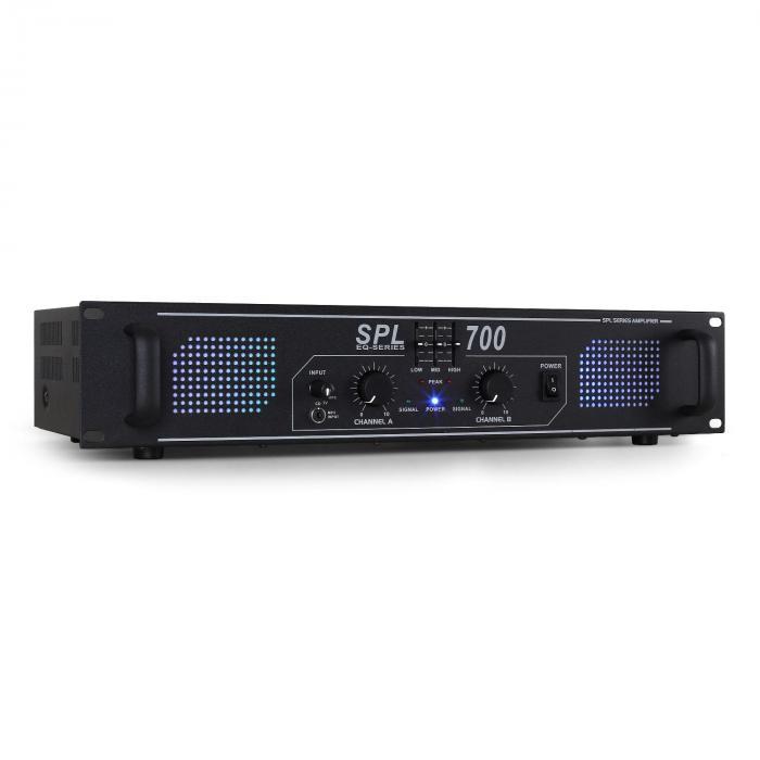 SPL700 DJ PA-Verstärker Audio LED 2000W Equalizer