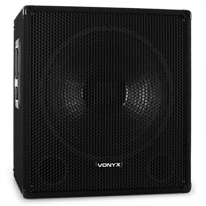 "18"" 46cm Active PA Subwoofer 1000W Bass Speaker"