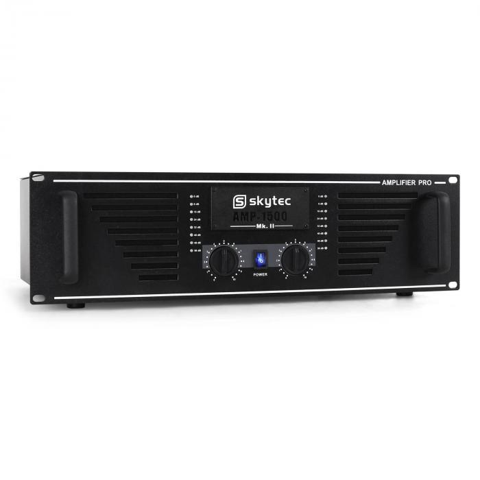 Ampli DJ PA Sono Stereo Skytec Mosfet Rack 2400W