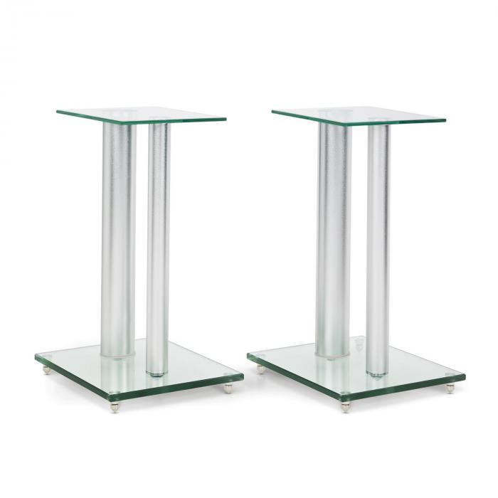 Para statywów głośnikowych Auna szkło/aluminium nośność<10kg