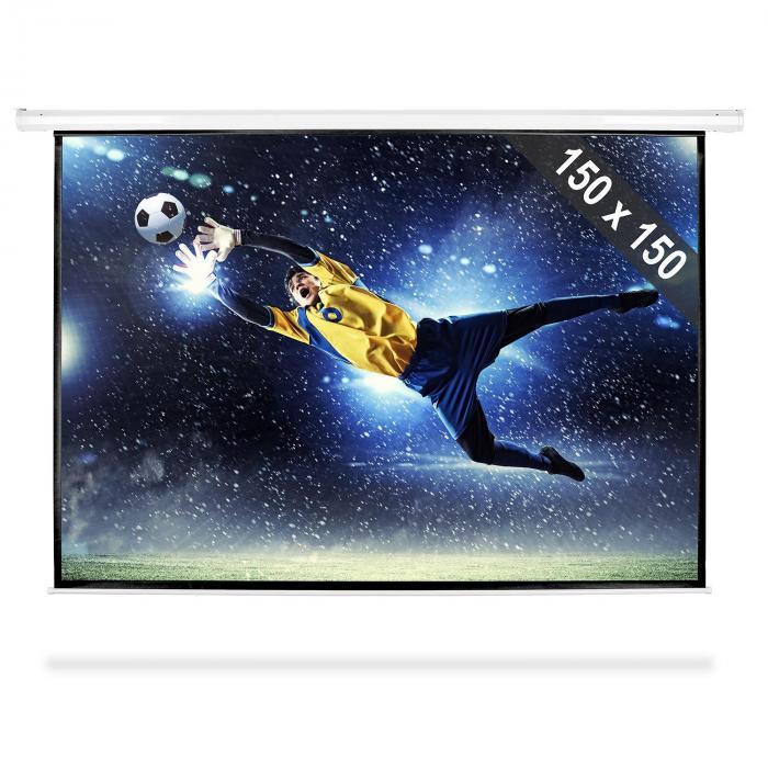 FrontStage Ekran zwijany 150x150cm kino domowe HDTV 203cm 1:1