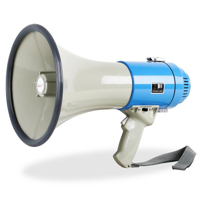 60W:n megafoni 1000m:n sireenillä