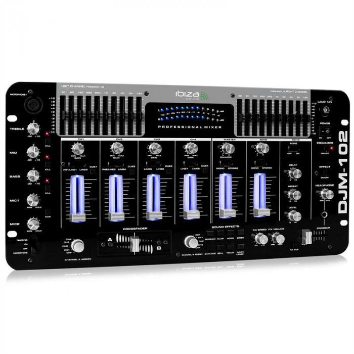 Mixer audio 4 canali IBIZA DJM-102