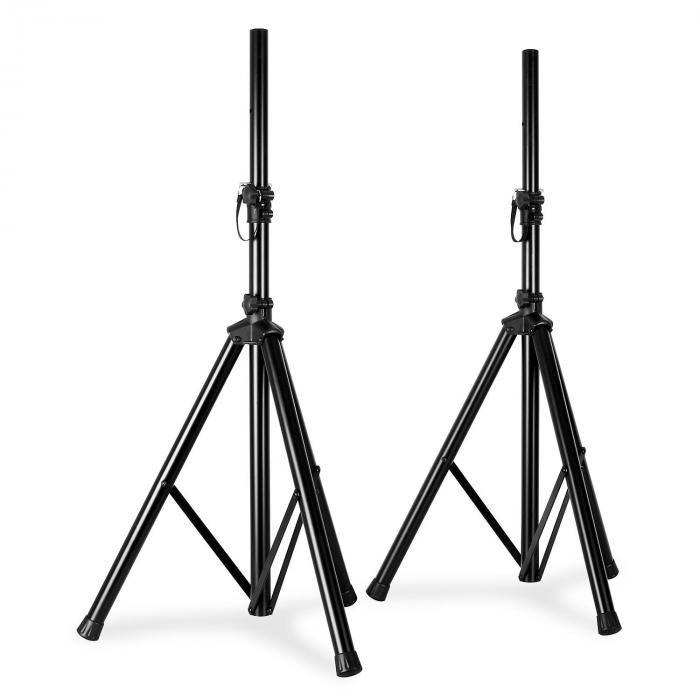 Pair VonyxTripod PA Speaker Stands with bag 30kg load each