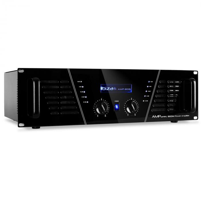 AMP-800 DJ PA amplificador 1200W MOSFET