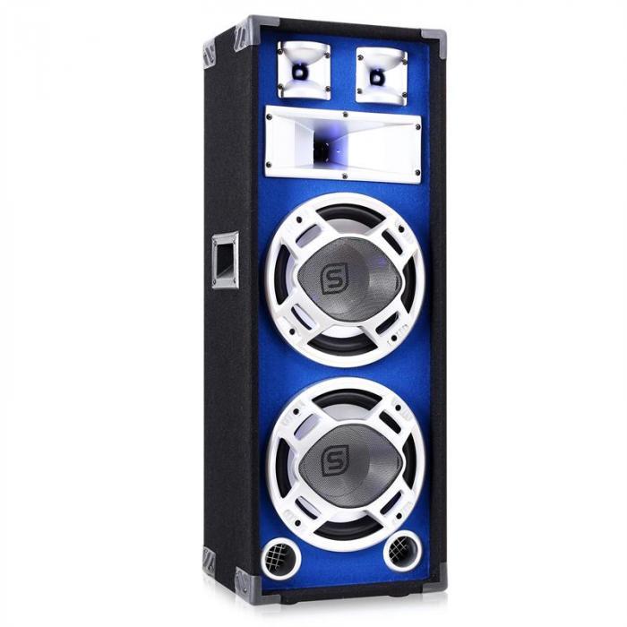 altoparlante PA 2x25 cm subwoofer blu 800 Watt