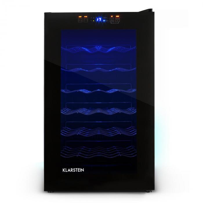 MKS-2 -viinikaappi 70 litraa 28 pullolle kosketusnäyttö lasiovi musta