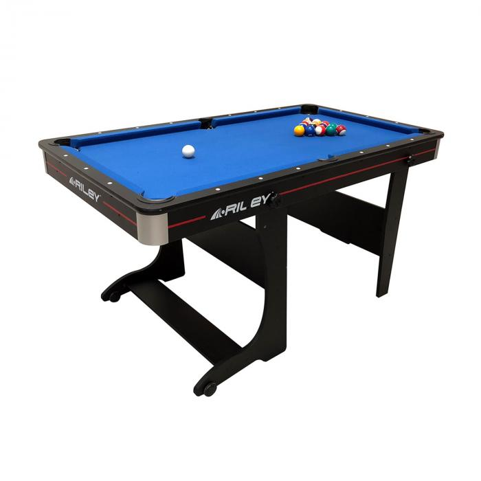 Kids Folding Pool Table 152 x 84 x 79cm with 2 Cues