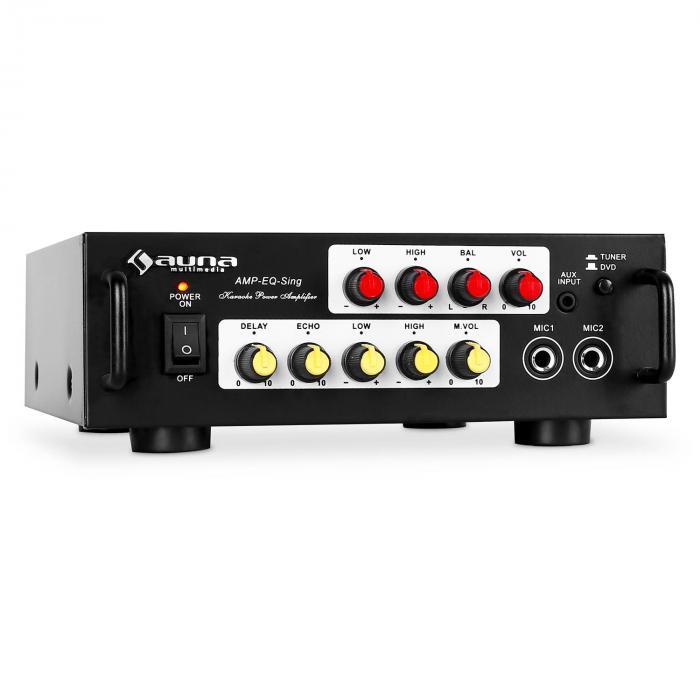 AV1 Amp-EQ Karaoke-HiFi-Verstärker 400Wmax. PA-...