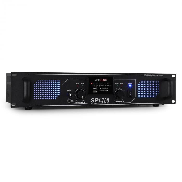 SPL-700 Amplificatore DJ PA 2000W USB-SD-MP3