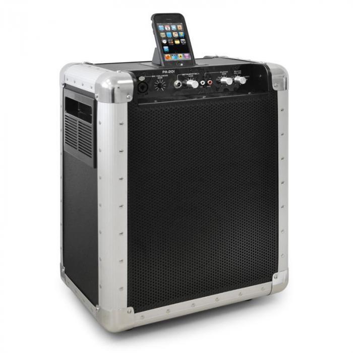 PA-201 aktive PA-Anlage mit iPod-Dock mobil Akku