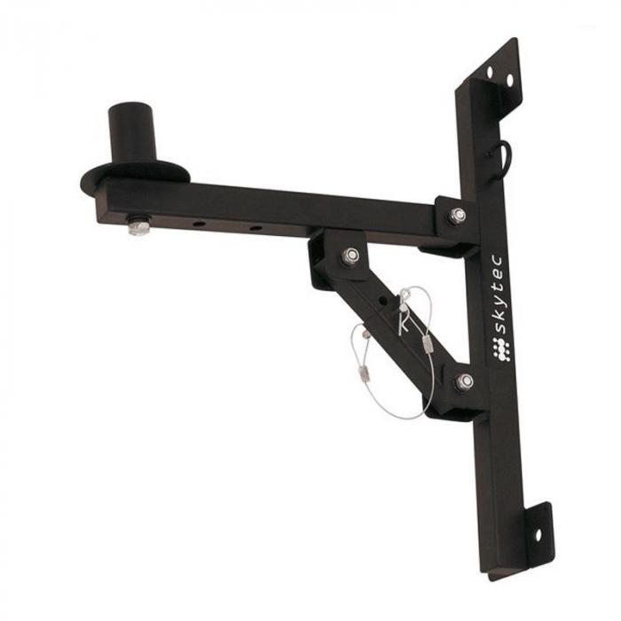 Skytec Mocowanie ścienne głośnika PA, czarny<50kg