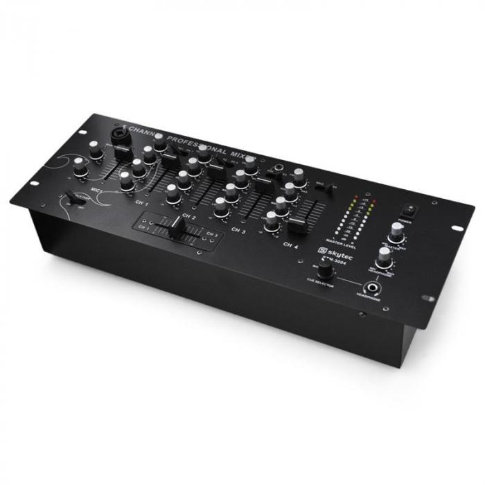 STM3004 4-channel DJ Mixer Mixing Desk Microphone MP3