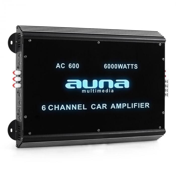 6-Kanaals Auto-Eindversterker Auna Car Versterker 6000W Acry