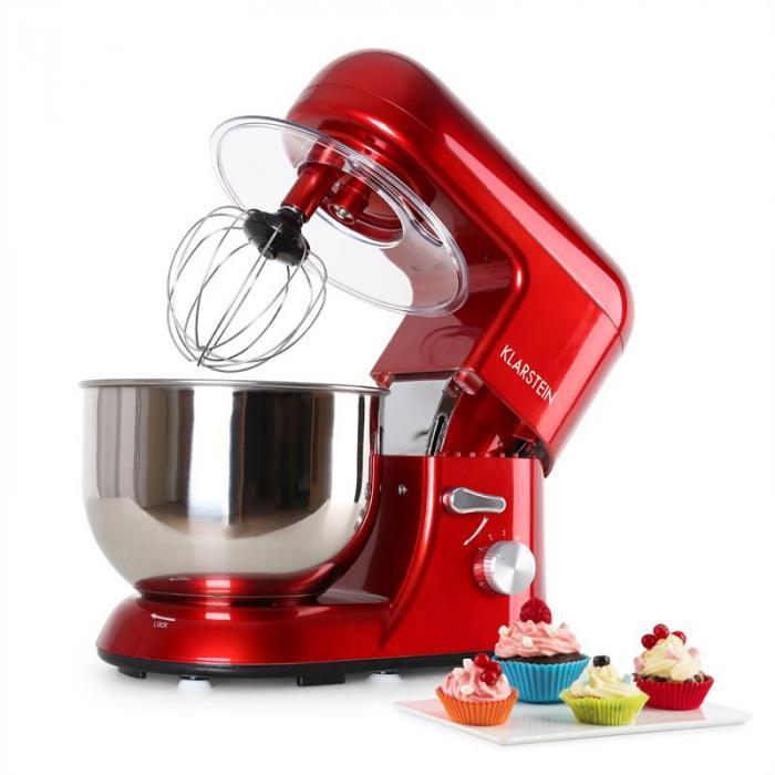 Klarstein Bella Rossa robot kuchenny moc 1200W ,1,6 PS, 5l czerwony