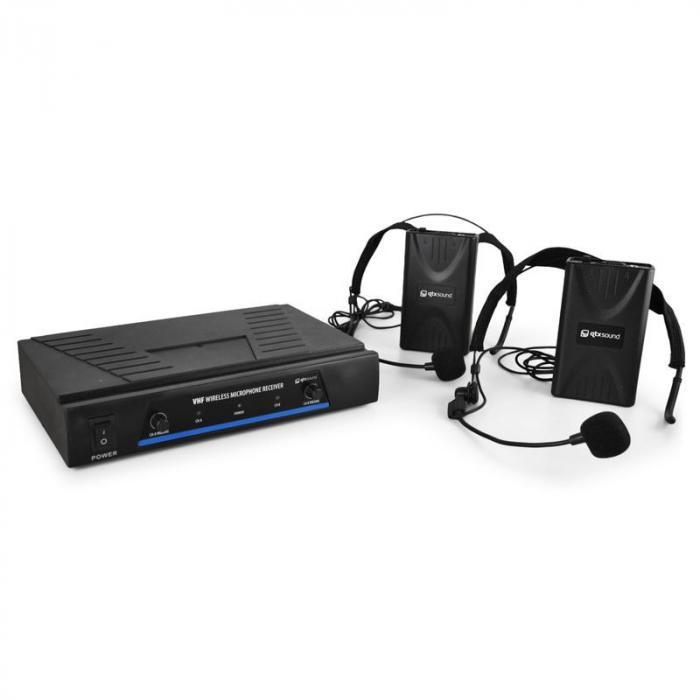 QTX 171.818 mikrofony bezprzewod. VHF 2 kanały 2 x headset