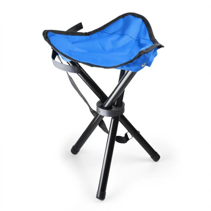 DURAMAXX Przenośne krzesło turystycznewędkarskie niebiesko-czarne500g