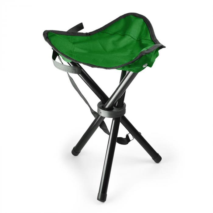DURAMAXX Przenośne krzesło turystycznewędkarskie zielono-czarne500g