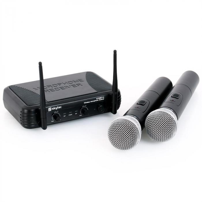 Skytec STWM712 zestaw mikrofonowy VHF bezprzewodowy 2xmik.
